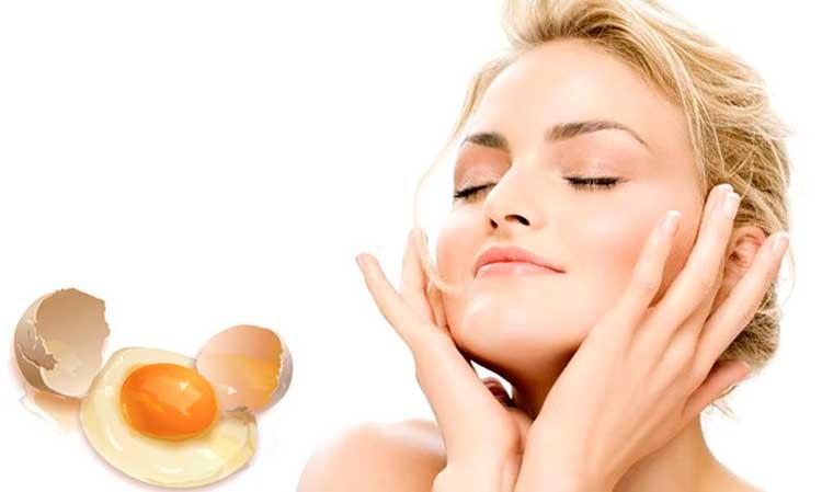 Маска из яйца для лица